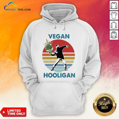 Vegan Hooligan Vintage Retro Hoodie
