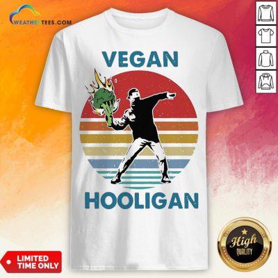 Vegan Hooligan Vintage Retro Shirt
