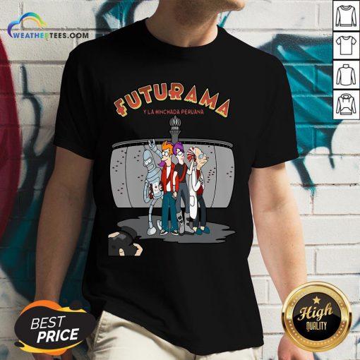 Ways Futurama Y La Hinchada Peruana V-neck - Design By Weathertees.com