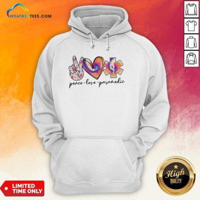 Wonder Peace Love Paramedic Colorful Hoodie - Design By Weathertees.com