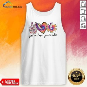 Wonder Peace Love Paramedic Colorful Tank Top - Design By Weathertees.com