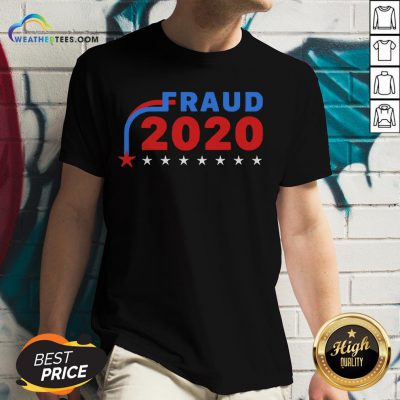 Awesome Fraud 2020 Stars V-neck- Design By Weathertees.com