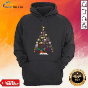 Beauty Peace Hippie Bus Christmas Tree Hoodie - Design By Weathertees.com