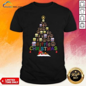Beauty Peace Hippie Bus Christmas Tree Shirt - Design By Weathertees.com