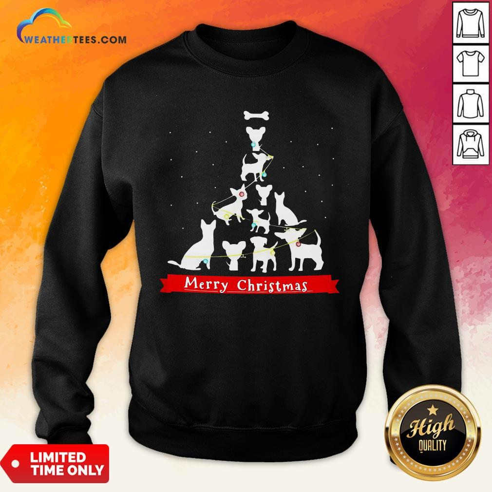 Best Dogs Tre Merry Christmas Ugly Sweatshirt- Design By Weathertees.com