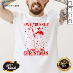 Best Have Yourself A Harry Little Christmas V-neck - Design By Weathertees.com