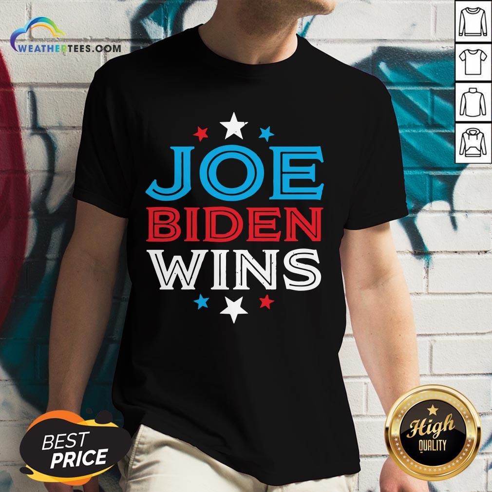 Best Joe Biden Wins President Victory 2020 Election White House V-neck - Design By Weathertees.com