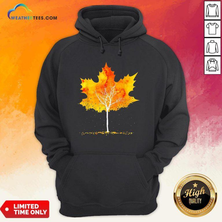 Best Maple Leaf Autumn Tree Orange Fall Leaves Season Hoodie - Design By Weathertees.com