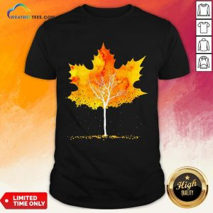 Best Maple Leaf Autumn Tree Orange Fall Leaves Season Shirt - Design By Weathertees.com