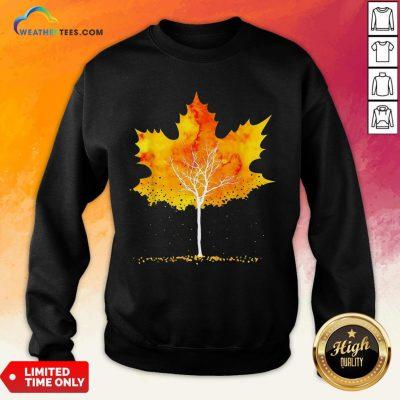 Best Maple Leaf Autumn Tree Orange Fall Leaves Season Sweatshirt- Design By Weathertees.com