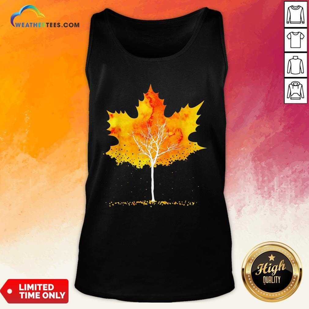 Best Maple Leaf Autumn Tree Orange Fall Leaves Season Tank Top - Design By Weathertees.com