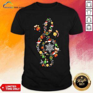 Best Music Note Santa Claus Merry Christmas Shirt - Design By Weathertees.com