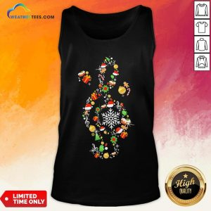 Best Music Note Santa Claus Merry Christmas Tank Top- Design By Weathertees.com