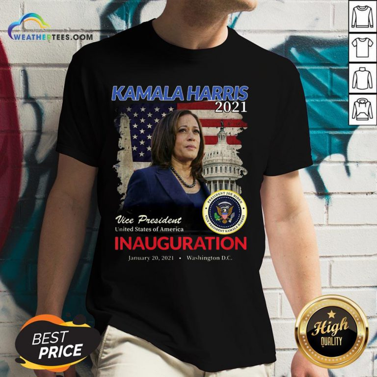 Better 2021 Inauguration Day Kamala Harris Commemorative Souvenir 2021 V-neck - Design By Weathertees.com
