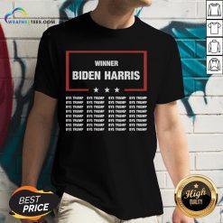 Better Winner Biden Harris Bye Trump V-neck - Design By Weathertees.com
