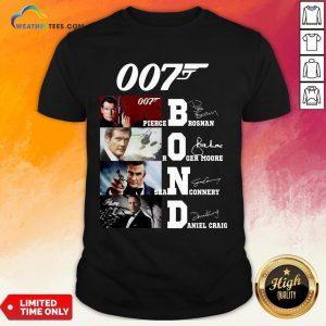 Brown James Bond 007 Pierce Brosnan Roger Moore Sean Connery Daniel Craig Signatures Shirt - Design By Weathertees.com