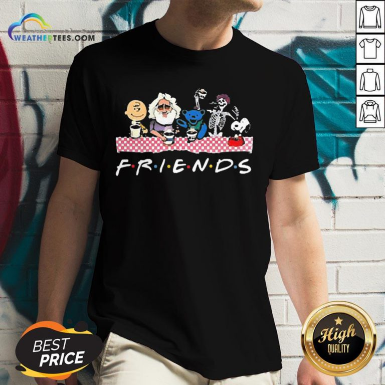 Cute Bear And Jerry Friend V-neck - Design By Weathertees.com