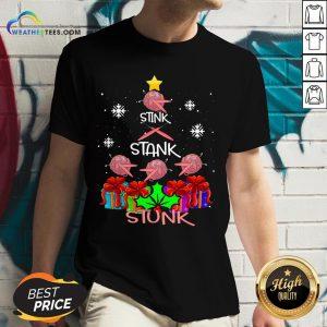 Deep Crochet Tree Stunk Christmas V-neck - Design By Weathertees.com