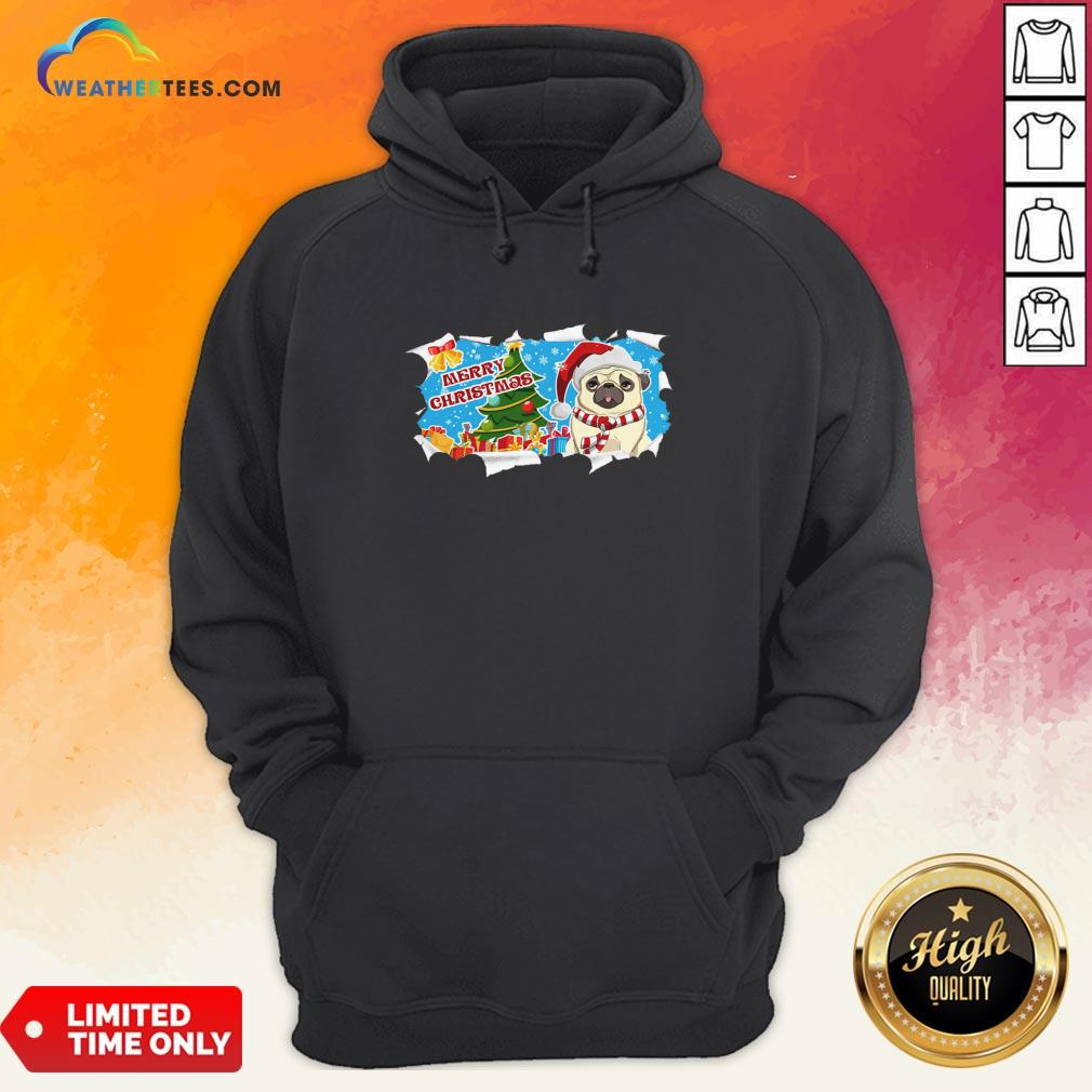 Do Merry Christmas Pug Hoodie - Design By Weathertees.com
