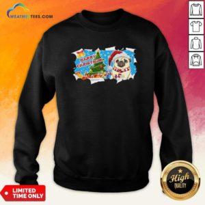 Do Merry Christmas Pug Sweatshirt - Design By Weathertees.com