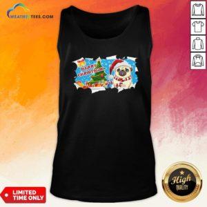 Do Merry Christmas Pug Tank Top- Design By Weathertees.com