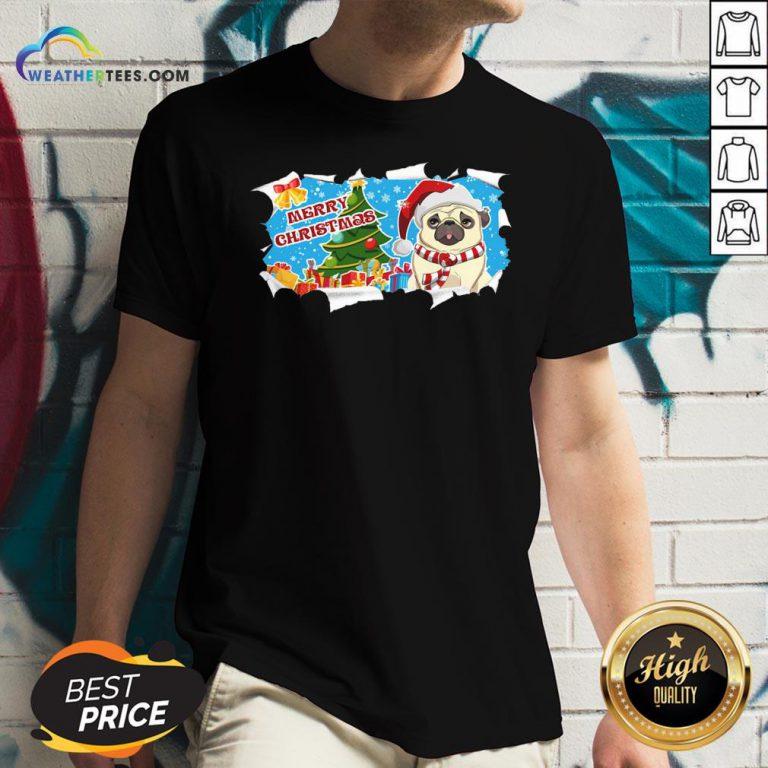 Do Merry Christmas Pug V-neck - Design By Weathertees.com