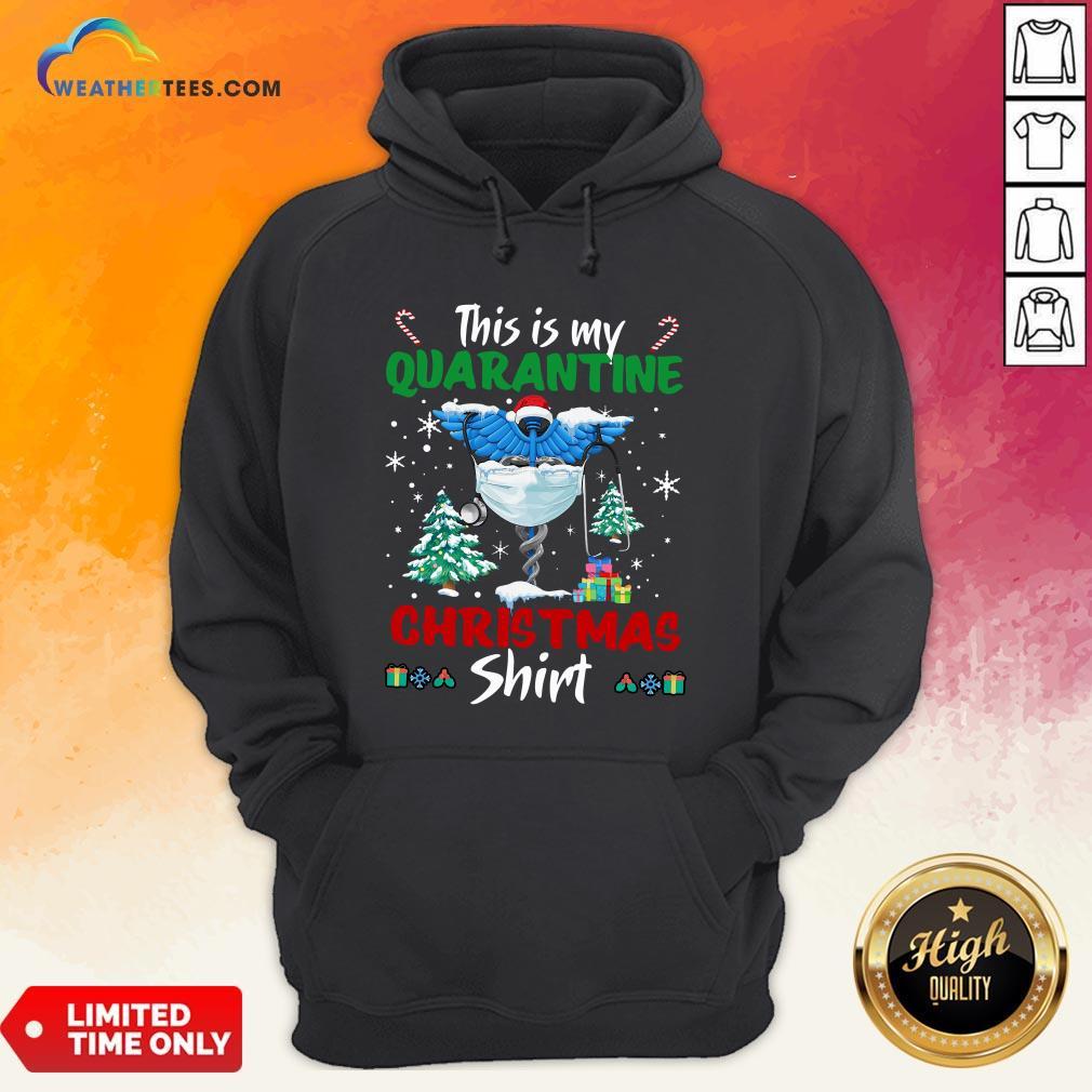 Enough This Is My Quarantine Nurse Gift Mask Christmas Hoodie - Design By Weathertees.com