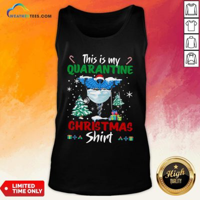 Enough This Is My Quarantine Nurse Gift Mask Christmas Tank Top- Design By Weathertees.com