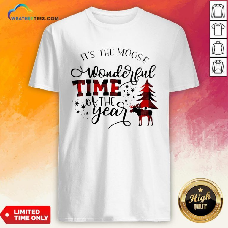 Fun It's The Moose Wonderful Time Of The Year Christmas Shirt - Design By Weathertees.com