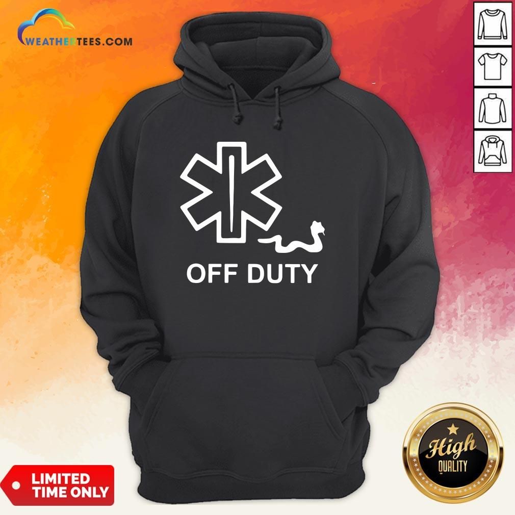 Good Emt Decal Off Duty Hoodie - Design By Weathertees.com