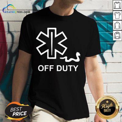 Good Emt Decal Off Duty V-neck- Design By Weathertees.com
