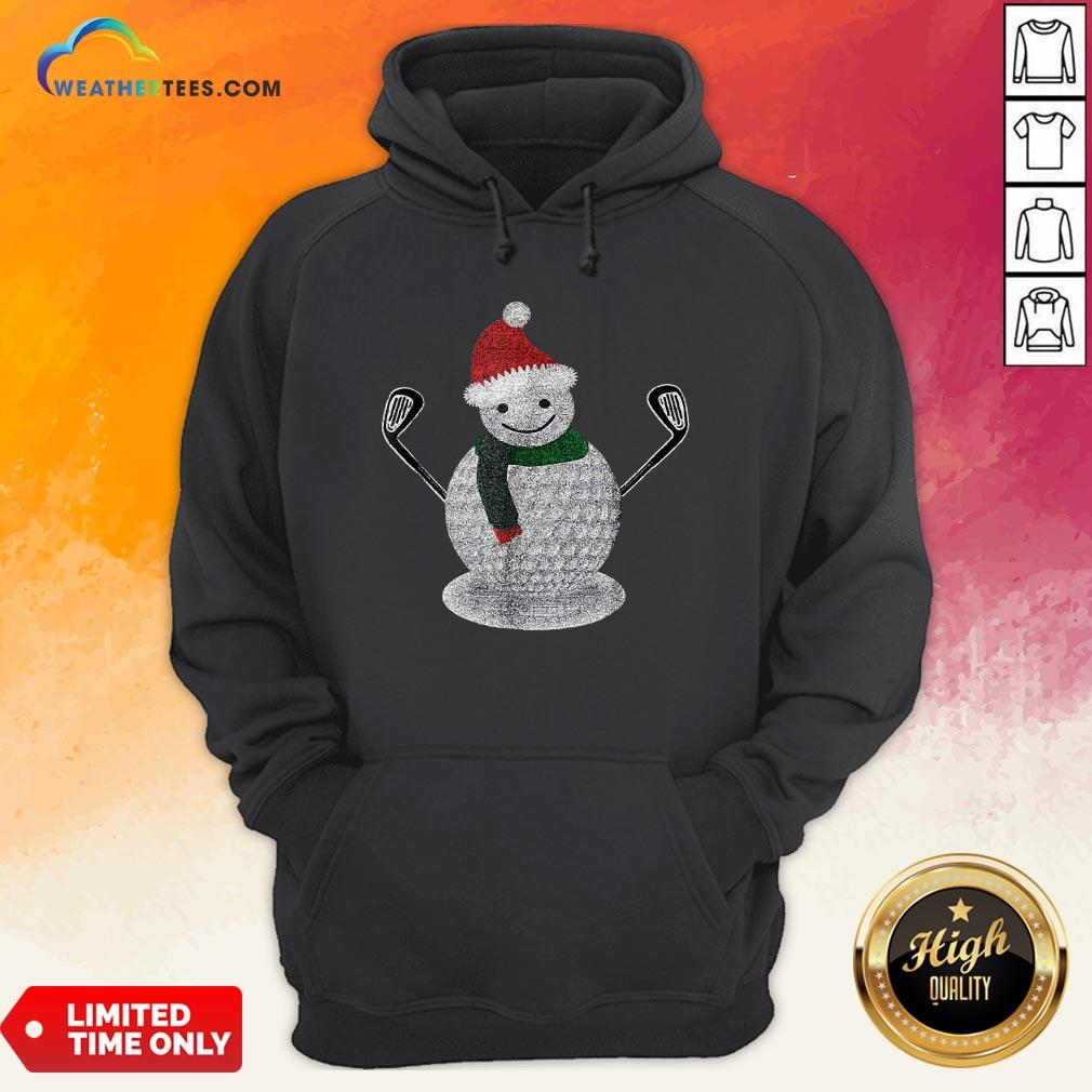 Good Golf Snowman Ball Funny Christmas Hoodie - Design By Weathertees.com