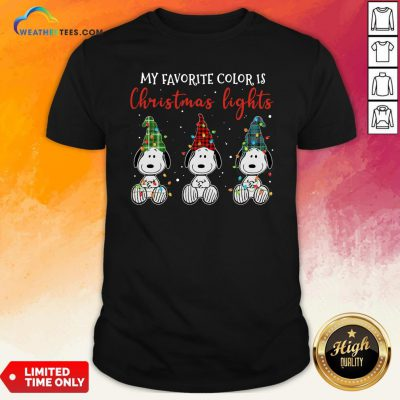 Good Snoopy My Favorite Color Is Christmas Lights Shirt- Design By Weathertees.com