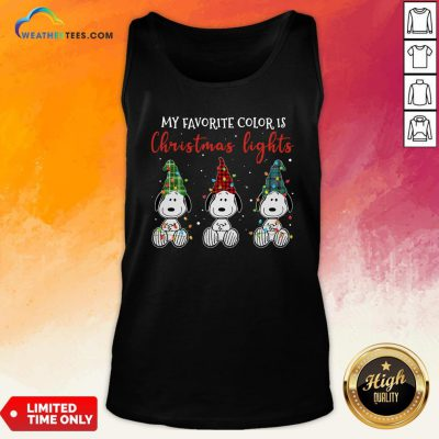 Good Snoopy My Favorite Color Is Christmas Lights Tank Top - Design By Weathertees.com