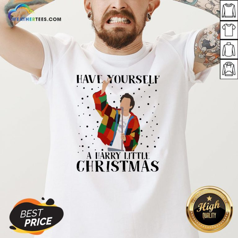 Hot Louis Tomlinson Have Yourself A Harry Little Christmas V-neck - Design By Weathertees.com