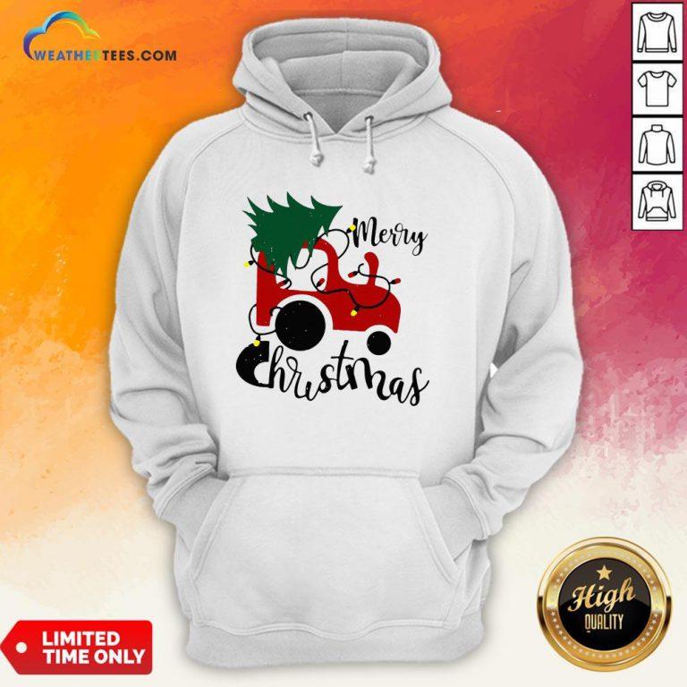 Hot Merry Christmas Tractor Sweat Hoodie - Design By Weathertees.com