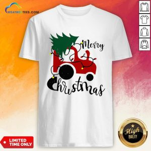 Hot Merry Christmas Tractor Sweat Shirt - Design By Weathertees.com