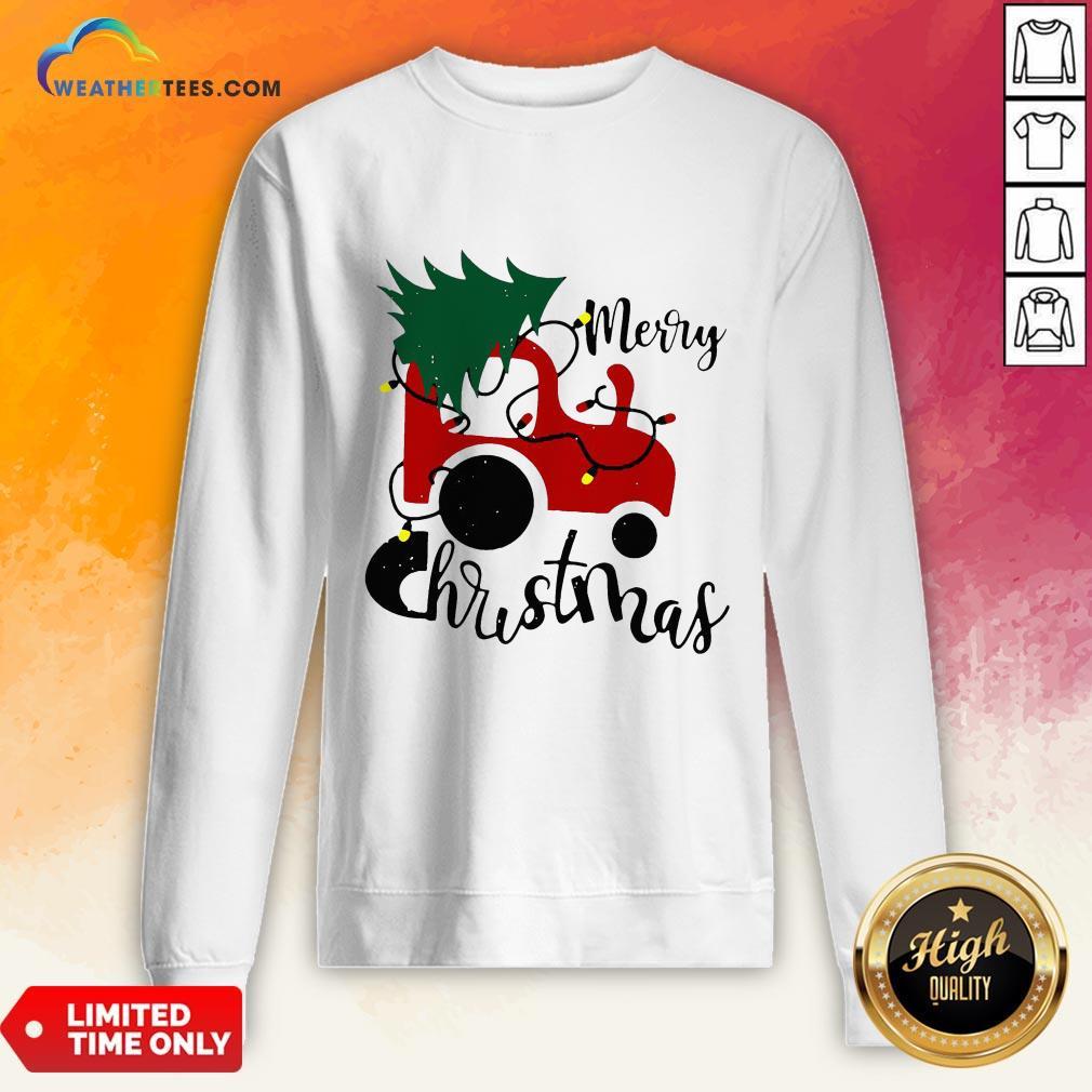 Hot Merry Christmas Tractor Sweat Sweatshirt - Design By Weathertees.com