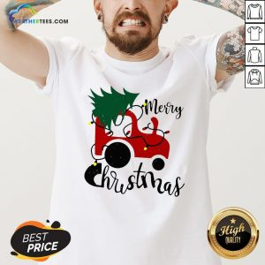 Hot Merry Christmas Tractor Sweat V-neck - Design By Weathertees.com