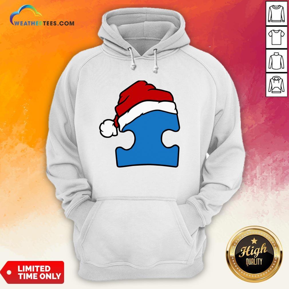 Hour Santa Autism Christmas Hoodie- Design By Weathertees.com
