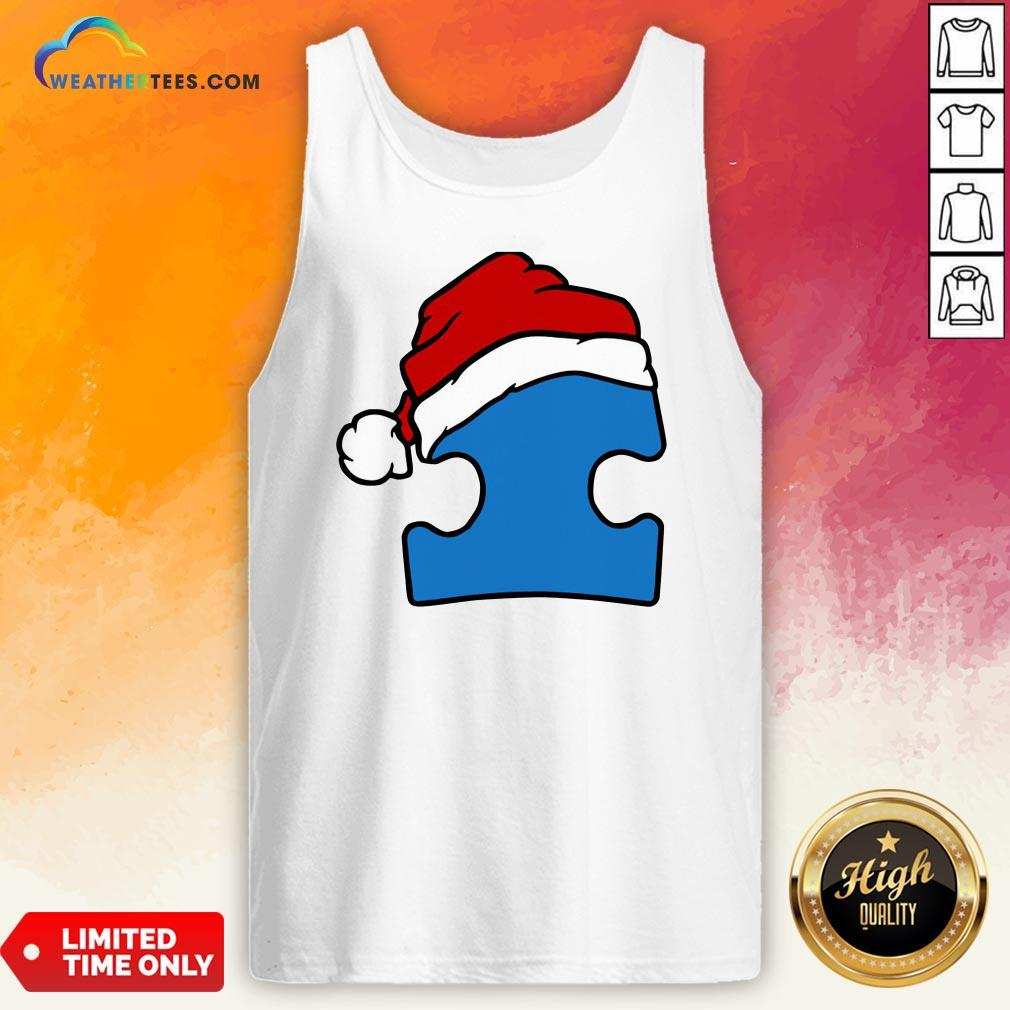 Hour Santa Autism Christmas Tank Top - Design By Weathertees.com