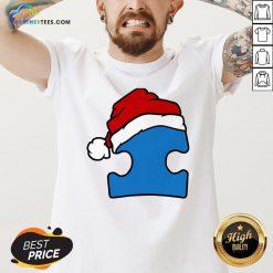 Hour Santa Autism Christmas V-neck- Design By Weathertees.com