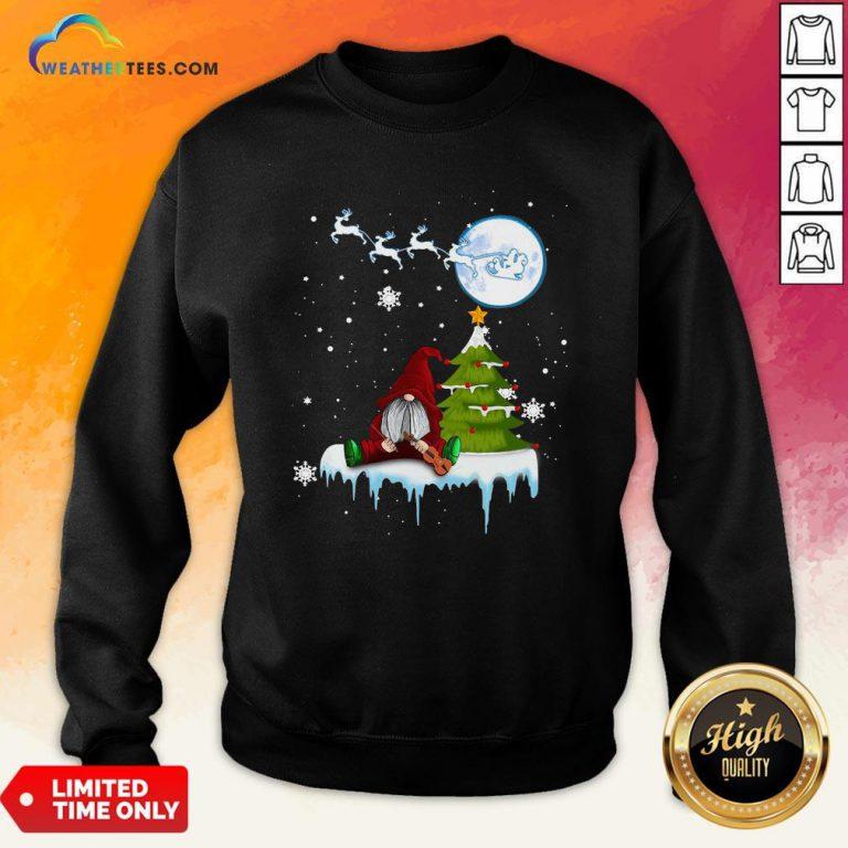 How Gnome Play Violin Merry Christmas Sweatshirt - Design By Weathertees.com