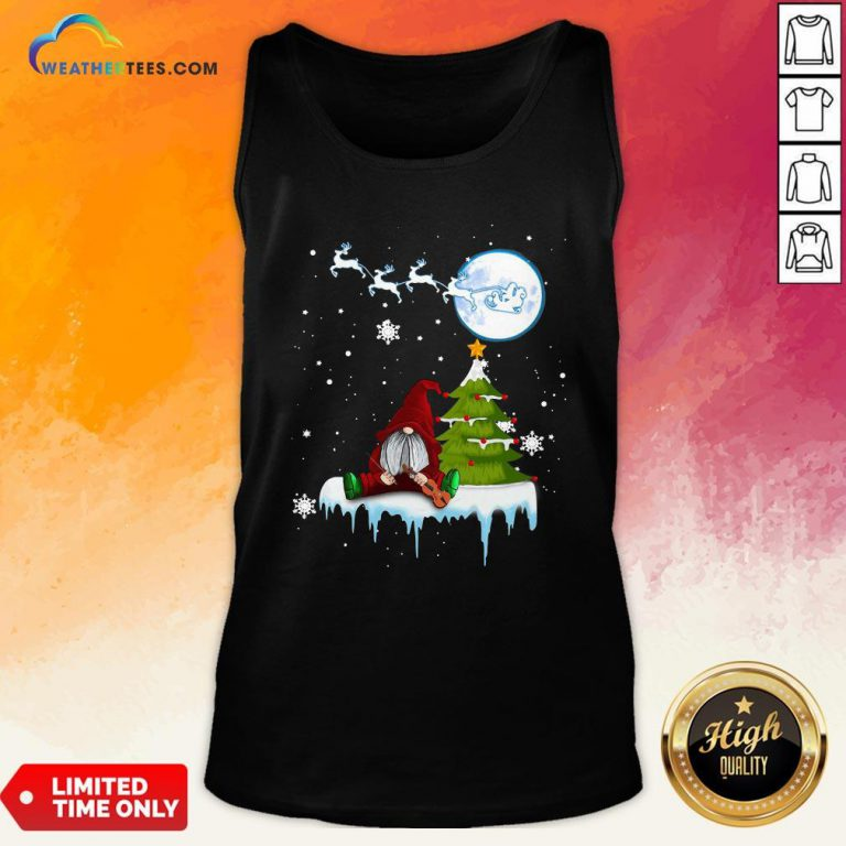 How Gnome Play Violin Merry Christmas Tank Top - Design By Weathertees.com