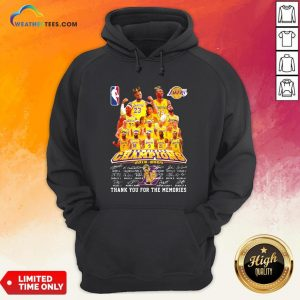 If Los Angeles Lakers Nba Finals Champions 2019 2020 Thank You For The Memories Signatures Hoodie- Design By Weathertees.com