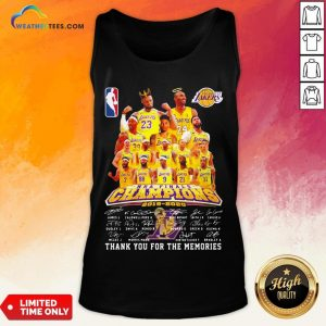 If Los Angeles Lakers Nba Finals Champions 2019 2020 Thank You For The Memories Signatures Tank Top - Design By Weathertees.com