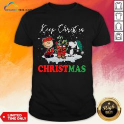 Keep Snoopy And Charlie Brown Keep Christ In Christmas 2020 Shirt - Design By Weathertees.com