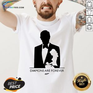 Kill James Bond Diamond Are Forever 007 V-neck - Design By Weathertees.com