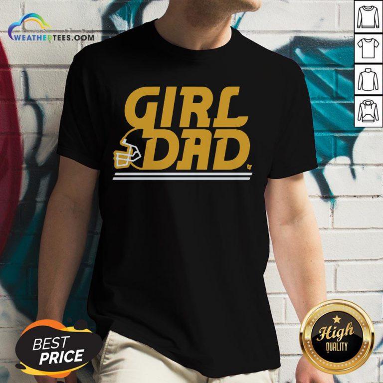Like Kc Girl Dad V-neck- Design By Weathertees.com