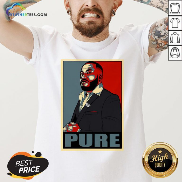 Long Pure I Am The Foundation V-neck - Design By Weathertees.com